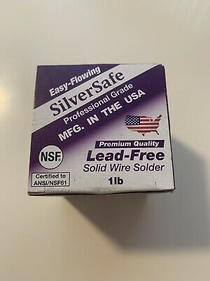 New Silversafe 1lb Lead-free Copper Pipe Solid Wire Solder