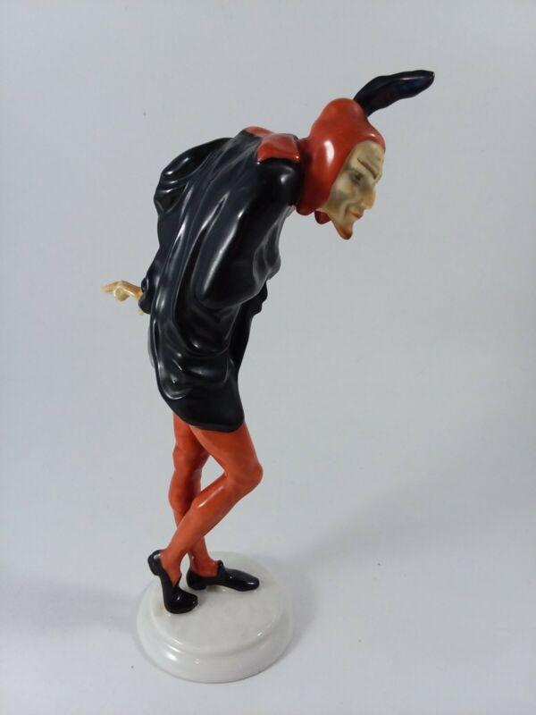 HUTSCHENREUTHER SELB Mephisto Devil K Tutter Porcelain Figurine Made in Germany