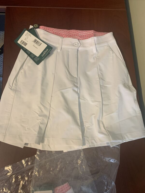 NWT Chervo Giorgie Ladies White Golf Shorts US 2 Italian 38 New 61527