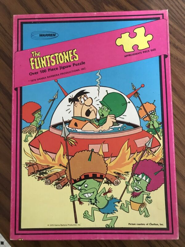 Flintstones Warren Puzzle The Great Gazoo 1978 100+ Pieces