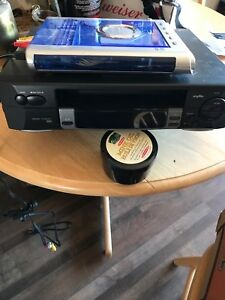 VHS player and cd player