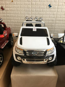 Newest 4X4 Kids Trucks with Leather Seat/Music/Lights/RC/Doors