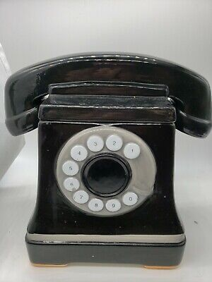 Vintage Ceramic Telephone Cookie Jar