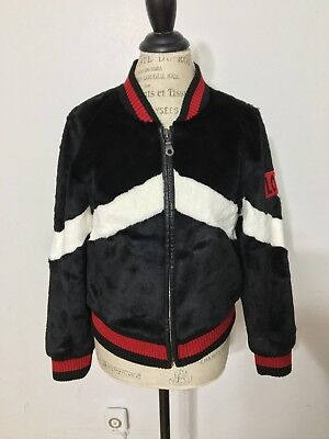 Women's JOCELYN Rabbit Baseball Jacket, Medium, Black Multi