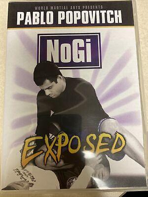 Pablo Popovitch - NoGi Exposed 3 DVD Training Brazilian Jiu Jitsu Instructional