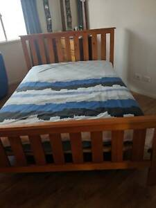 Timber Queen bed with slat base