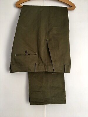 """Kent & Curwen High Waist Army Fatigue Chino 34"""" Armoury Tautz Howell Brycelands"""