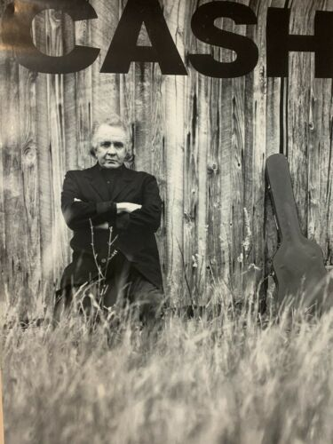 JOHNNY CASH UNCHAINED 1996 PROMO POSTER, 24 x 18