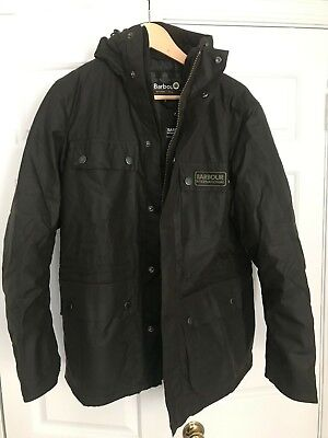 - Barbour International Imboard Wax Jacket sz Small Olive