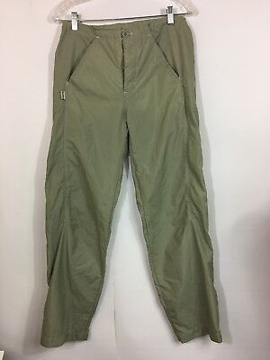 Nike Womens Nylon Pants Size M Zipper Ankles Green ACG All Conditions Gear 8 10