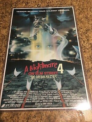 A NIGHTMARE ON ELM STREET PART 4  11x17 inch Movie Poster in Hard Plastic Sleeve