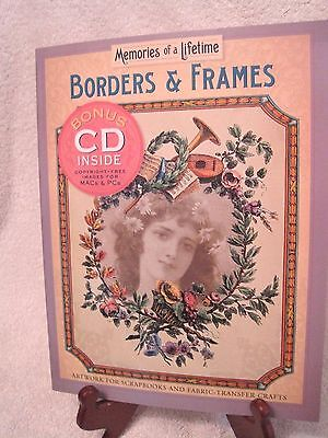 Borders & Frames Art work for scrapbooks & fabric transfer Bonus CD Border Art Transfer
