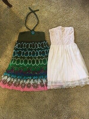 Lot Of 2 Girls Dresses Beautiful abercrombie Kids Small & Childrens Place Size 8
