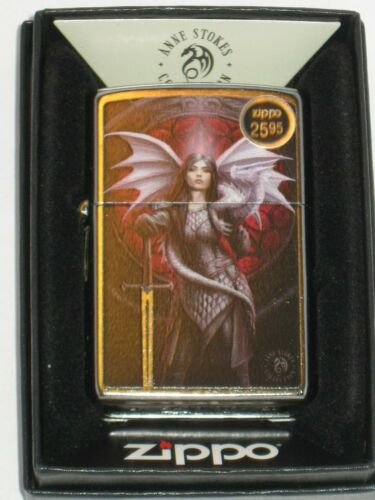 New ZIPPO Windproof Lighter Anne Stokes 49096 Warrior Woman with Sword & Dragon