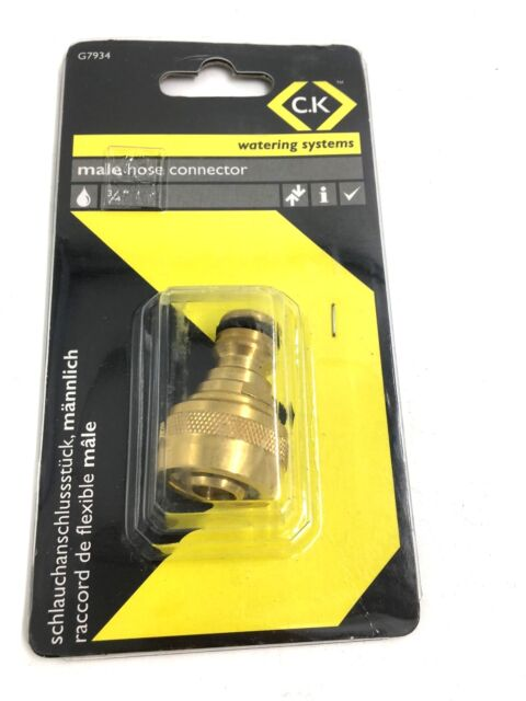 """CK Brass Watering Systems Male Connector 3/4"""" G7934"""