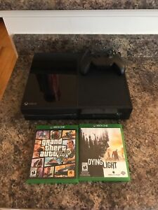 Xbox one with console and 2 games
