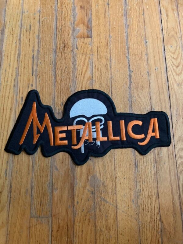"vintage 14"" metallica patch embroidered large"