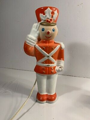 "VINTAGE 1950's CHRISTMAS BLOW MOLD TOY SOLDIER 13"" RARE Christmas Hat"