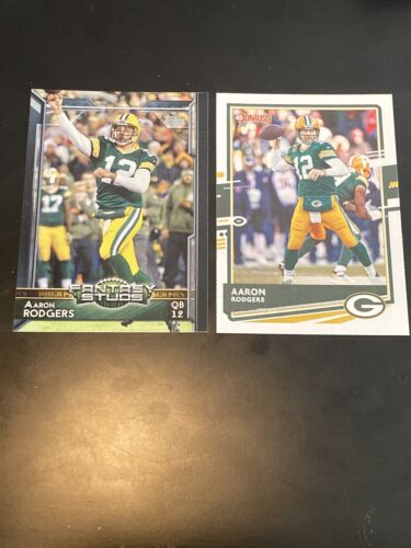 Aaron Rodgers 2 Card Lot 2020 Donruss 103 And 2015 Fantasy Studs 309 - $0.01