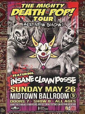 Insane Clown Posse, the mighty death pop! Concert poster, 11x17 ICP (Insane Clown Posse The Mighty Death Pop)