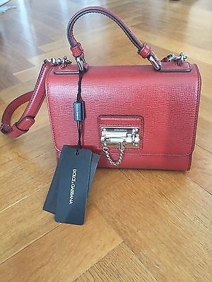 Dolce & Gabbana Bag- Small Monica Tote In Red Leather