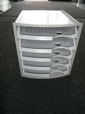 Büro Ablagefach Ablageschrank weiß / grau