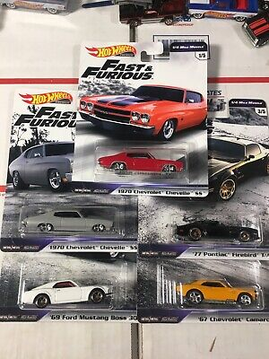 2019 Hot Wheels Fast and Furious 1/4 Mile Muscle Premium Set 5/5 (b34)