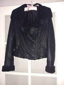 Ladies genuine black leather jacket NWOT