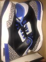 Sport blue Jordan 3's