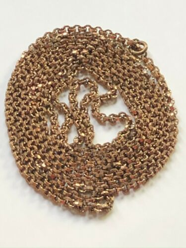Antique Victorian vintage pinchbeck guard muff 144cm long chain necklace