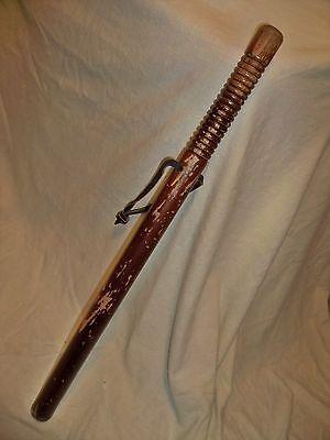 "Vintage Wooden Night Stick Baton Billy Club Police  24"""