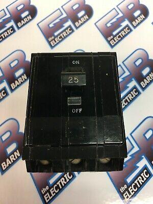 Square D Qo325 25 Amp 240 Volt 3 Pole Black Circuit Breaker - Warranty