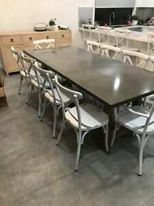 Solid Concrete Dining Table - 2400x1000mm