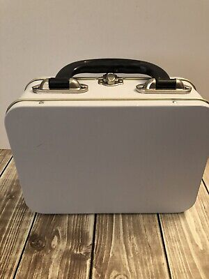 Brand New White Provo Craft DIY Rectangular Lunch Box Tin - with Handle