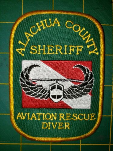 ALACHUA COUNTY SHERIFF AVIATION RESCUE DIVER POLICE PATCH STATE OF FLORIDA
