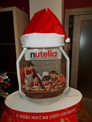 Barattolo Nutella Gigante cappello natale LUMINOSO a led Pouf Ferrero kinder