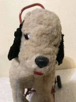 Antique Toy Stuffed Push Toy MADE IN ENGLAND-Legs Move Up and Down!!