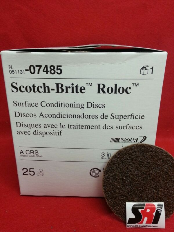 "3M Scotch-Brite Roloc Surface Cond. Disc, 3"", 07485 CRS"