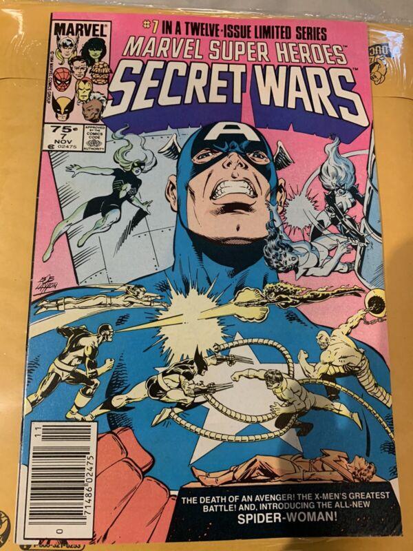 Marvel Super-Heroes Secret War #7 VF/NM 9.0 (Marvel 1984) Intro New Spiderwoman!