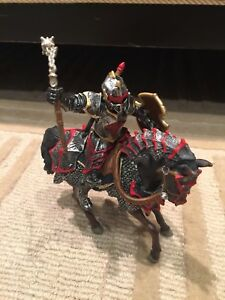 Knights and Horses x 7 - toy figures.  In very good condition