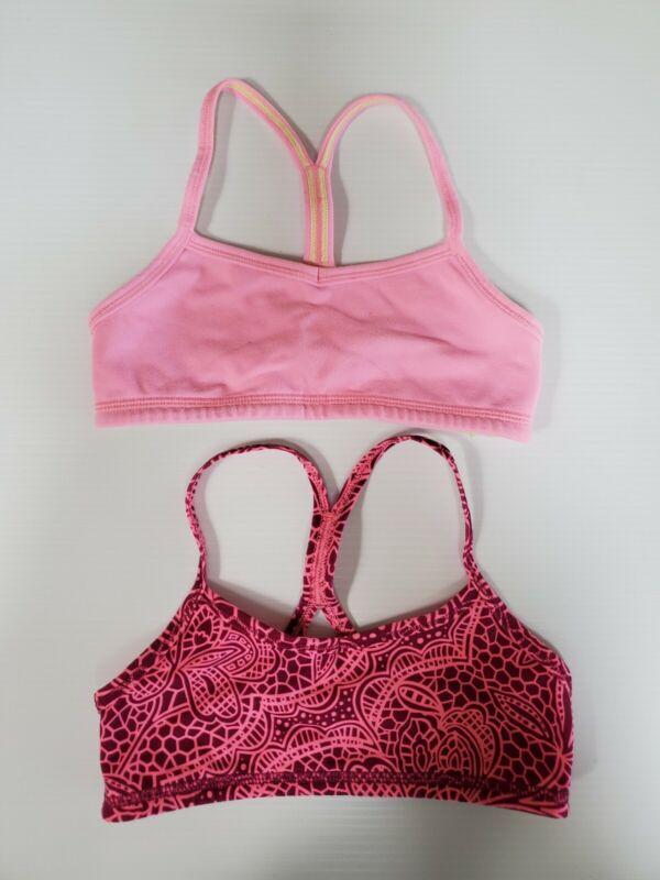 Ivivva pink sports bra size 4 Lot of 2