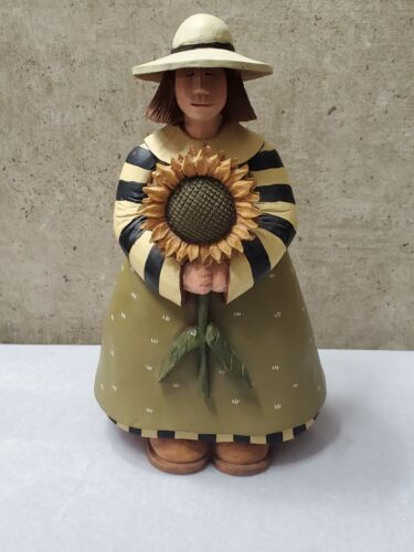 "Williraye Studio Farmer's Market Nature's Harmony 2003 9"" Girl Sunflower"