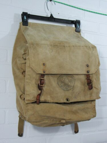 Vintage Canvas Boy Scouts 574 Ucca Pack Hiking Backpack