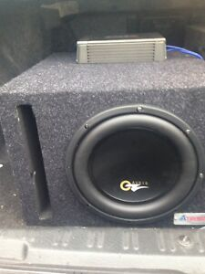 """1200 Watt 10"""" OZ Subwoofer with ported box"""