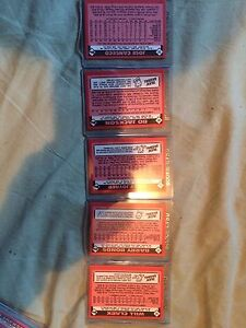 5 1985 TOPPS TIFFANY ROOKIE CARDS