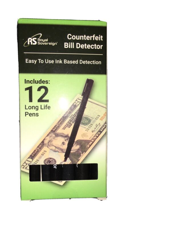 Counterfit Money Detector Pen (12 Pens)