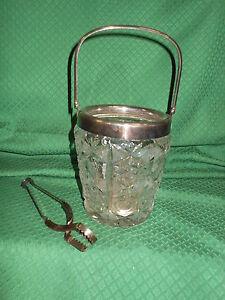 Secchiello portaghiaccio in cristallo e metallo argentato for Secchiello portaghiaccio