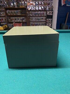 File Box Metal Steel Index Cards Business Recipes Gray Vintage Divider Addresses