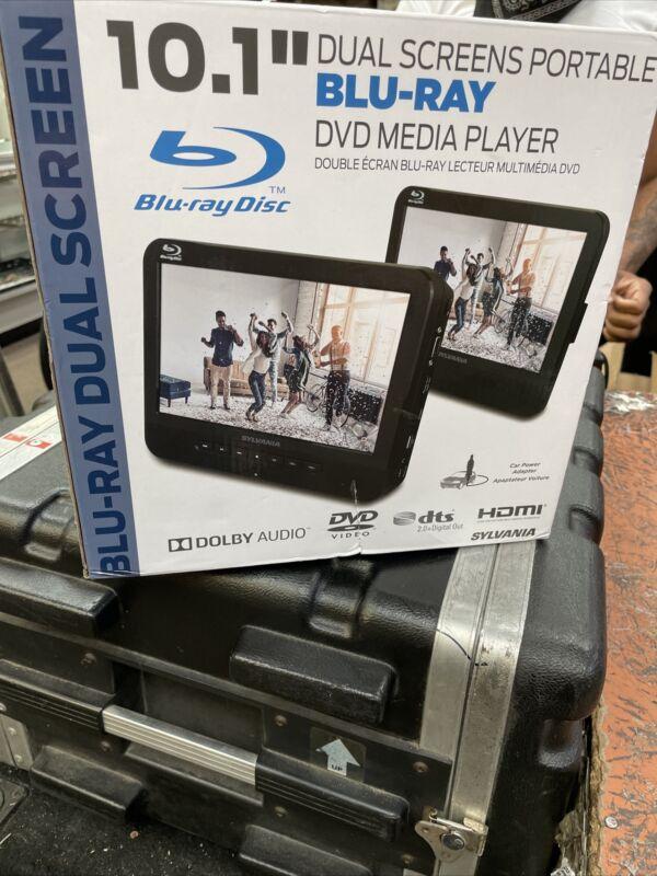 """SYLVANIA 10.1"""" Dual Screen Portable BLURAY DVD Player SDVD1087"""