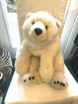 "DITZ DESIGNS-Polar Bear Stuffed Toy Hug Rug 26"" Plush Weighted Beanie Therapy"